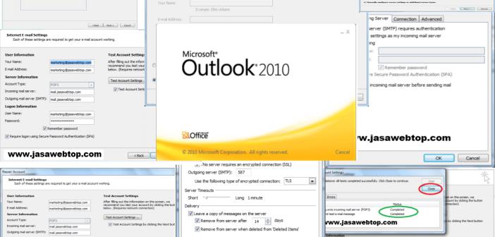 Cara Mengkonfigurasi Microsoft Outlook 2010 Untuk Akses Account E-Mail Anda