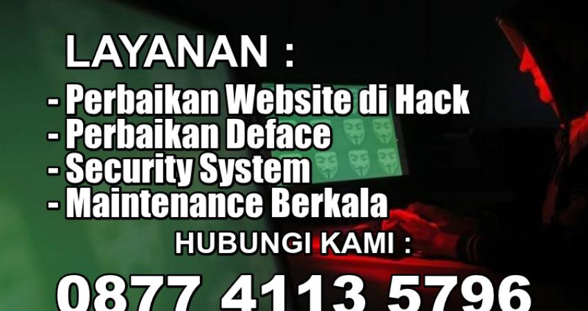 Jasa Perbaikan Website Rusak Kena Hack Deface